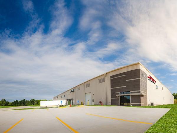 exterior shot of the Jarrett warehouse